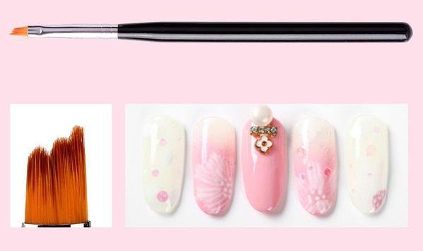 DL Professional Gel Nail Art 6 Piece Brush Set - Design Bristles Nail Art Brush - Mk Beauty Club
