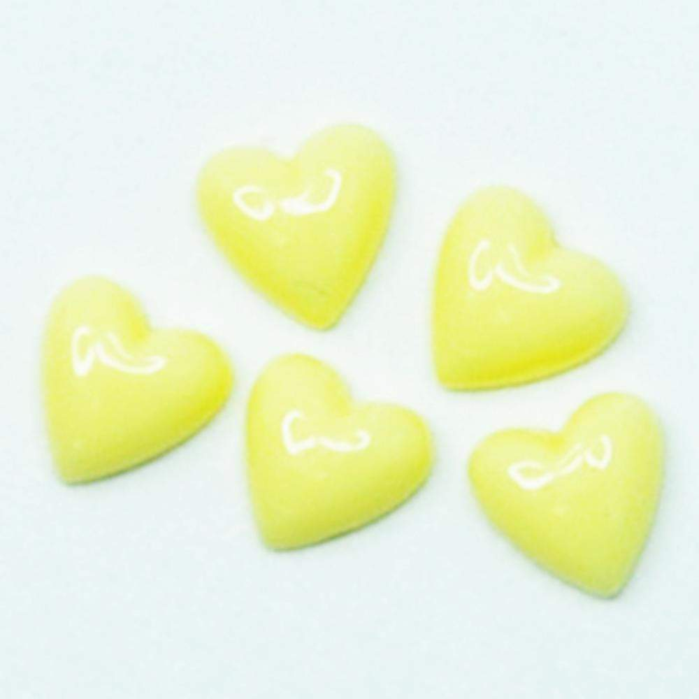 Fuschia Nail Art - Plastic Heart - Yellow