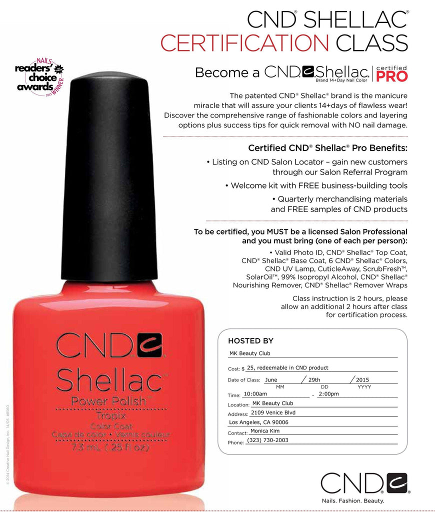 CND - Shellac Certification