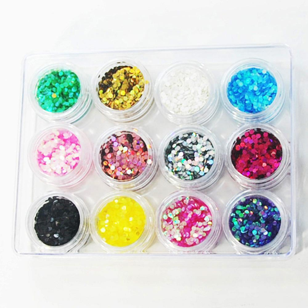 Polka Dot Glitter Set - 12pc