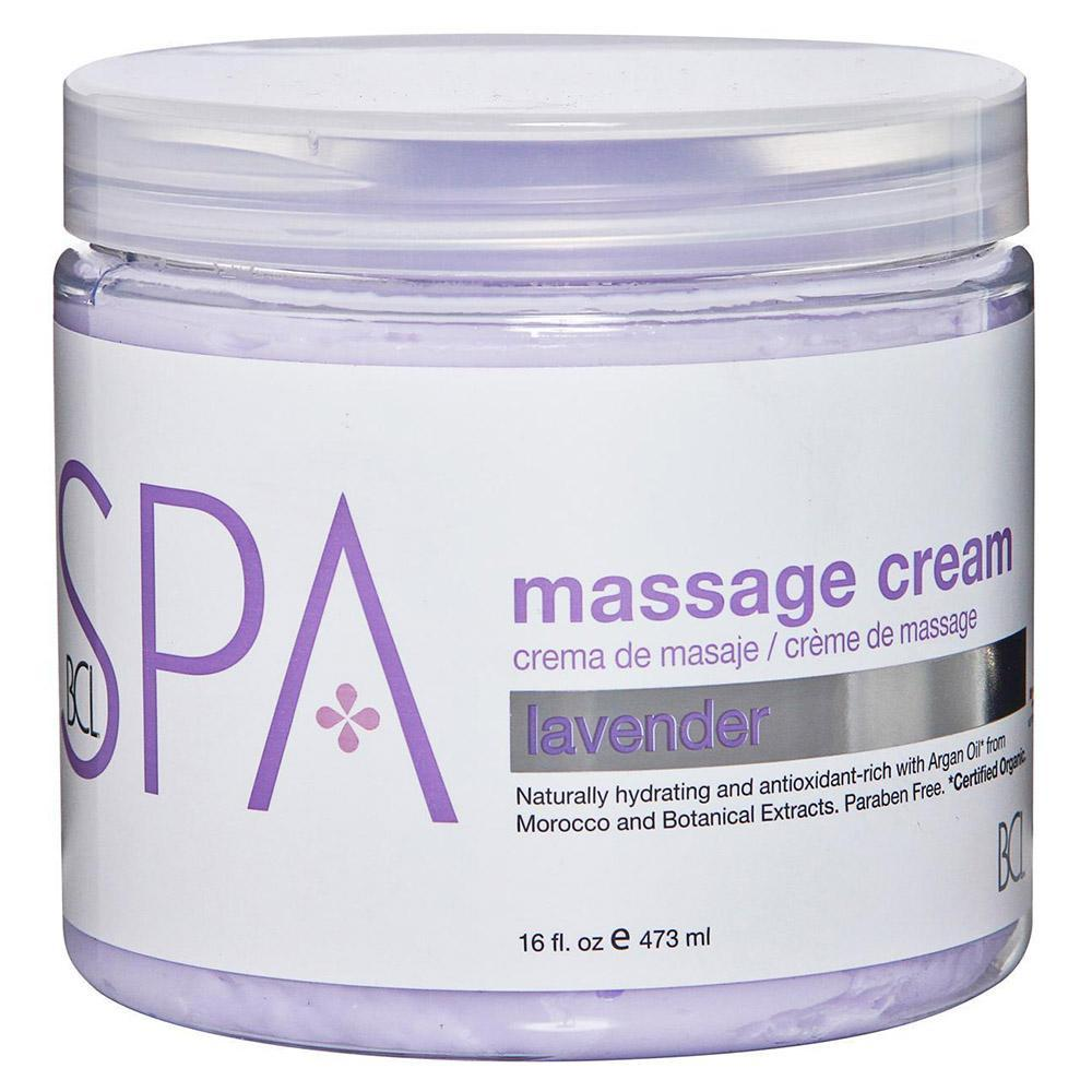 BCL SPA - Lavender Massage Cream - 16oz