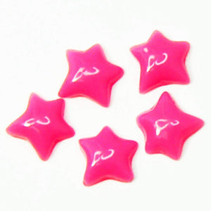 Fuschia Nail Art - Plastic Star - Red