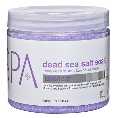 BCL SPA - Lavender Dead Sea Salt Soak - 16oz