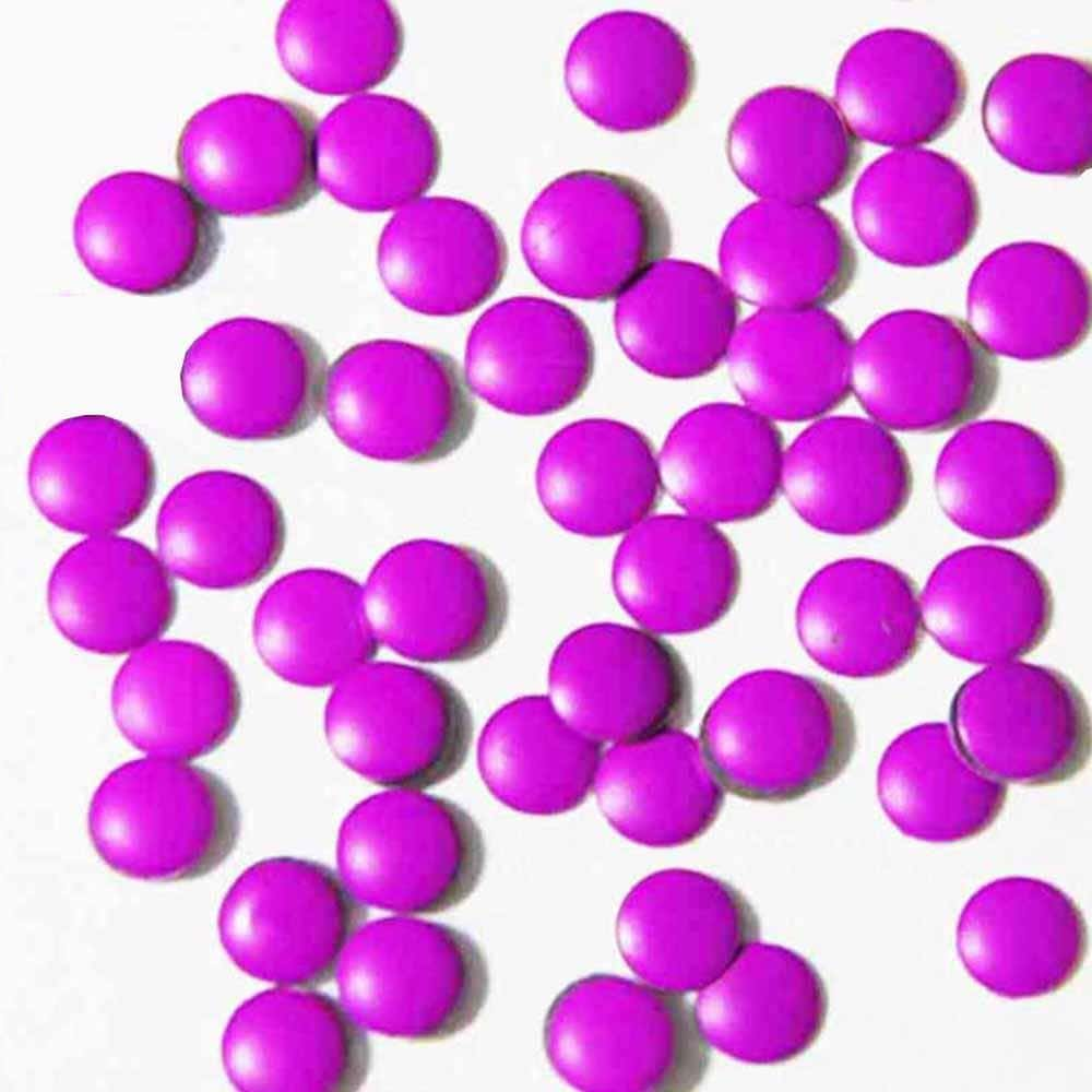 Fuschia Nail Art - Neon Purple Studs - Large Circle
