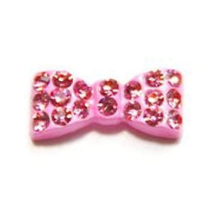 Fuschia Nail Art - Rectangle Bow - Pink