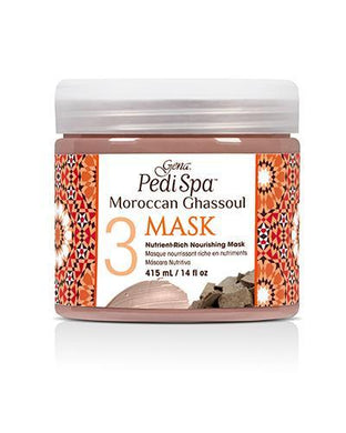 Gena Pedi Spa - Moroccan Ghassoul 3 Mask 14 oz