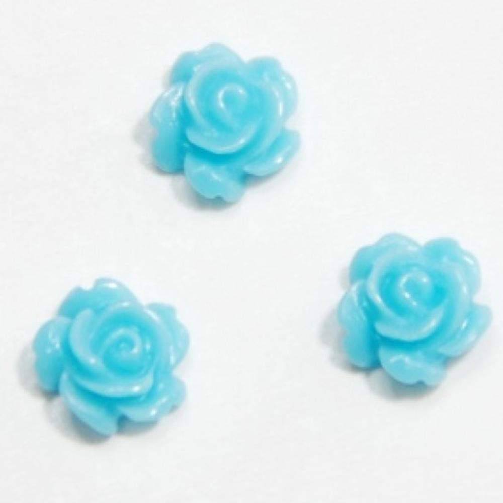 Fuschia, Fuschia Nail Art - Blue Roses, Mk Beauty Club, Nail Art