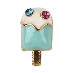 Fuschia Nail Art -  Ice Cream - Blue