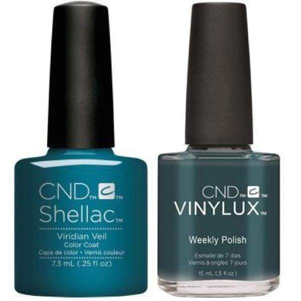 CND, CND Shellac & Vinylux Duo -  Viridian Veil, Mk Beauty Club, Matching Gel + Polish