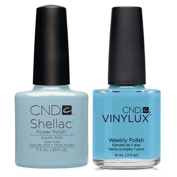 CND, CND Shellac & Vinylux Duo - Azure Wish, Mk Beauty Club, Matching Gel + Polish