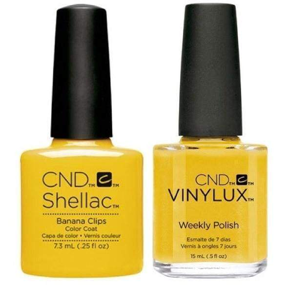 CND, CND Shellac & Vinylux Duo - Banana Clips, Mk Beauty Club, Matching Gel + Polish