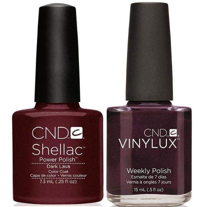 CND Shellac & Vinylux Duo - Dark Lava