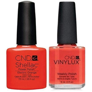 CND Shellac & Vinylux Duo - Electric Orange