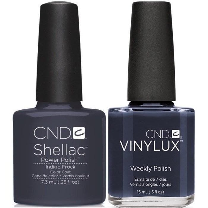 CND, CND Shellac & Vinylux Duo - Indigo Frock, Mk Beauty Club, Matching Gel + Polish