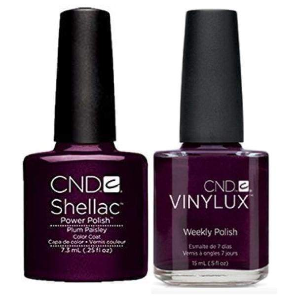 CND, CND Shellac & Vinylux Duo - Plum Paisley, Mk Beauty Club, Matching Gel + Polish