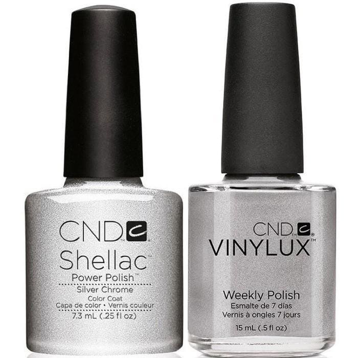 CND, CND Shellac & Vinylux Duo - Silver Chrome, Mk Beauty Club, Matching Gel + Polish