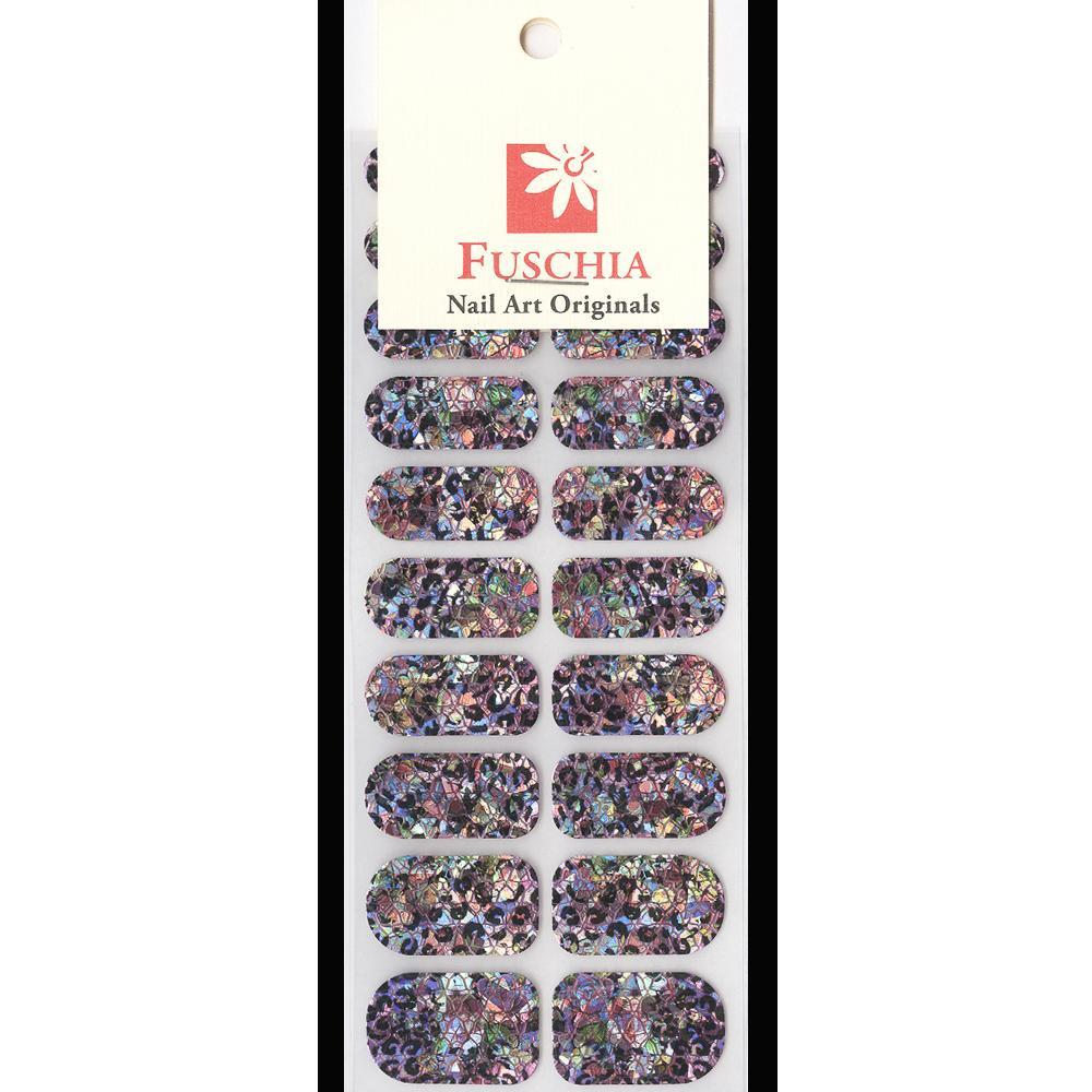 Fuschia, Fuschia Nail Wraps - Hologram Leopard & Flowers, Mk Beauty Club, Nail Wrap