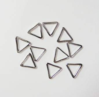 Fuschia, Fuschia Nail Art - Geometric Triangle - Silver, Mk Beauty Club, Metal Parts