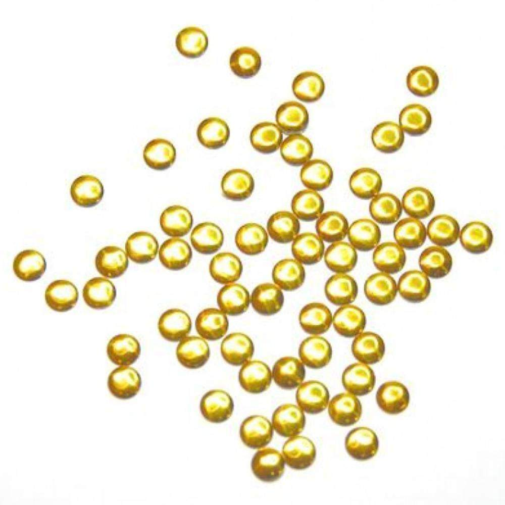 Fuschia, Fuschia Nail Art - Nail Studs - Large Gold Circle, Mk Beauty Club, Metal Parts
