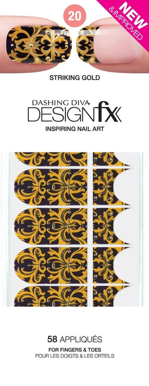 Dashing Diva Design FX Appliques - Striking Gold 20