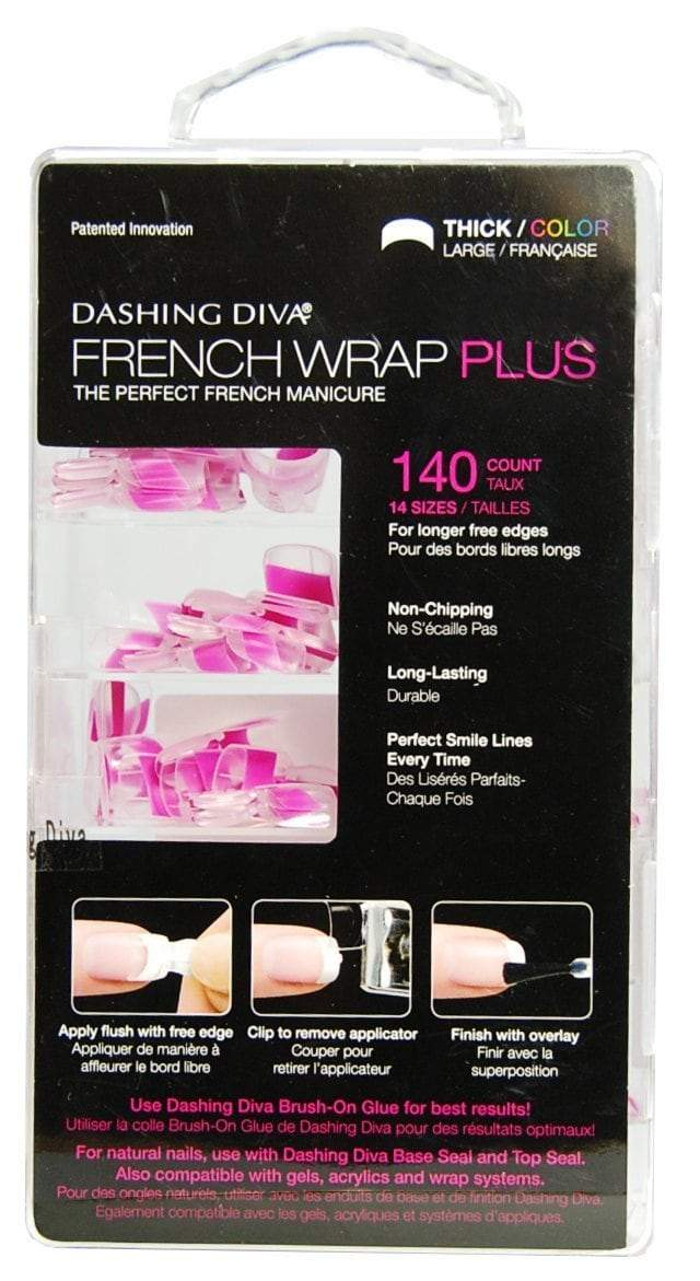 Dashing Diva French Wrap Plus -  Double Wide - Thick Fuchsia 140tips