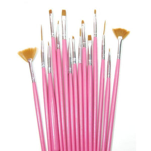 Nail Art Striping Brush Set - 15pc