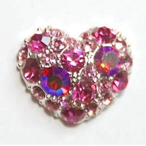 Fuschia Nail Art - Heart Crystal Assortment - Pink