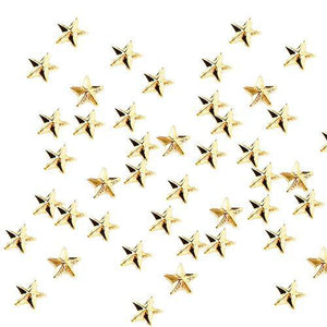Fuschia Nail Art - Mini Star Studs - Gold