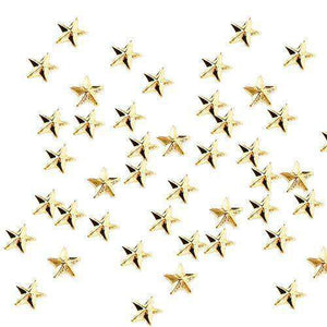 Fuschia-Nail Art-Fuschia Nail Art - Mini Star Studs - Gold
