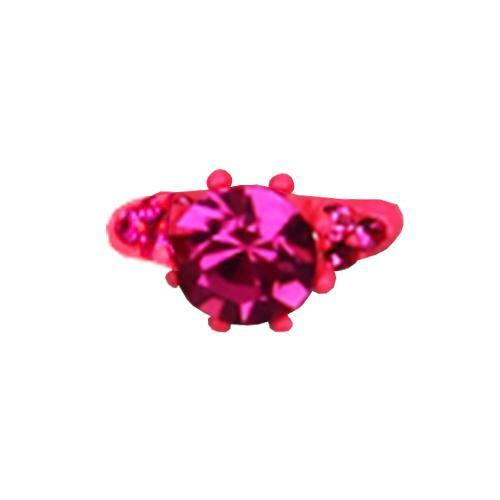 Fuschia Nail Art - Neon Ring - Pink