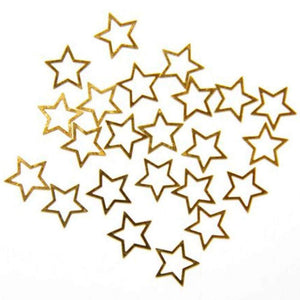 Fuschia Nail Art - Gold Metal Star - Large