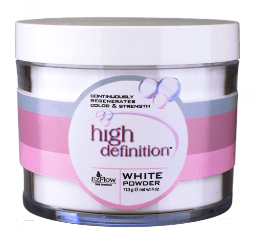 EZ Flow HD White Acrylic Powder - 4 oz.