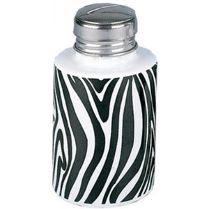 Porcelain Liquid Pump - Zebra Print - 6oz