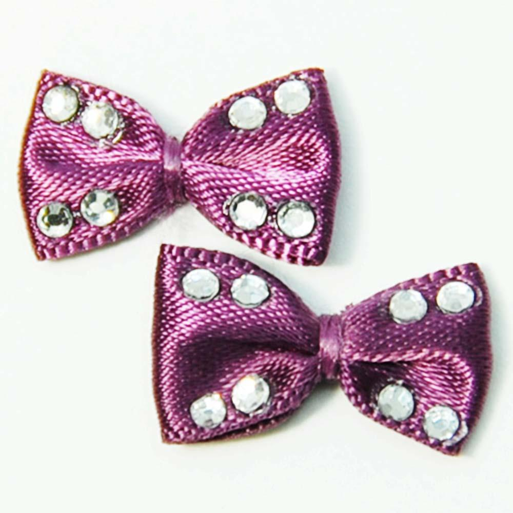 Fuschia, Fuschia Nail Art Charms - Cloth Bow - Purple, Mk Beauty Club, Nail Art Charms