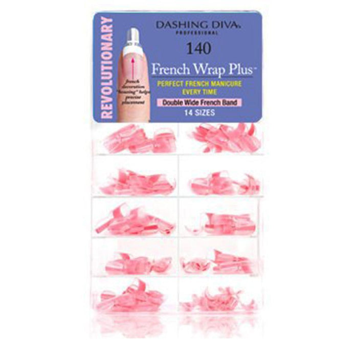 Dashing Diva French Wrap Plus - Double Wide - Thick Ballet Pink 140tips