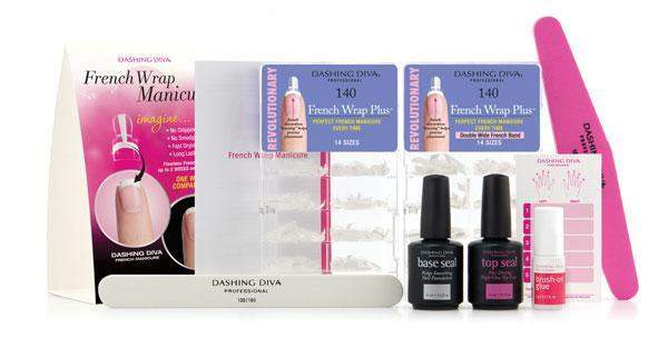 Dashing Diva, Dashing Diva - French Wrap Manicure Kit, Mk Beauty Club, Nail Tip Set