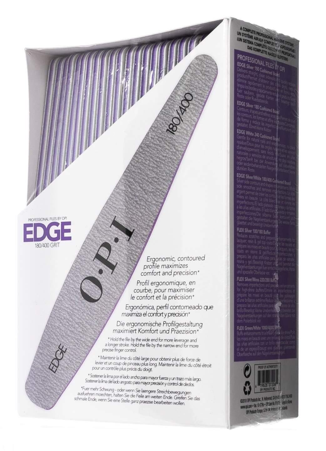 OPI, OPI Nail Files Edge Silver 180/400 Grit 48 Piece Pack, Mk Beauty Club, Nail Files