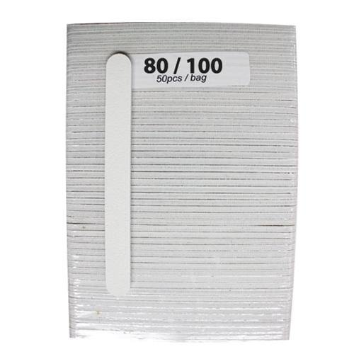 Nail Files White 50 Piece Pack - Coarse