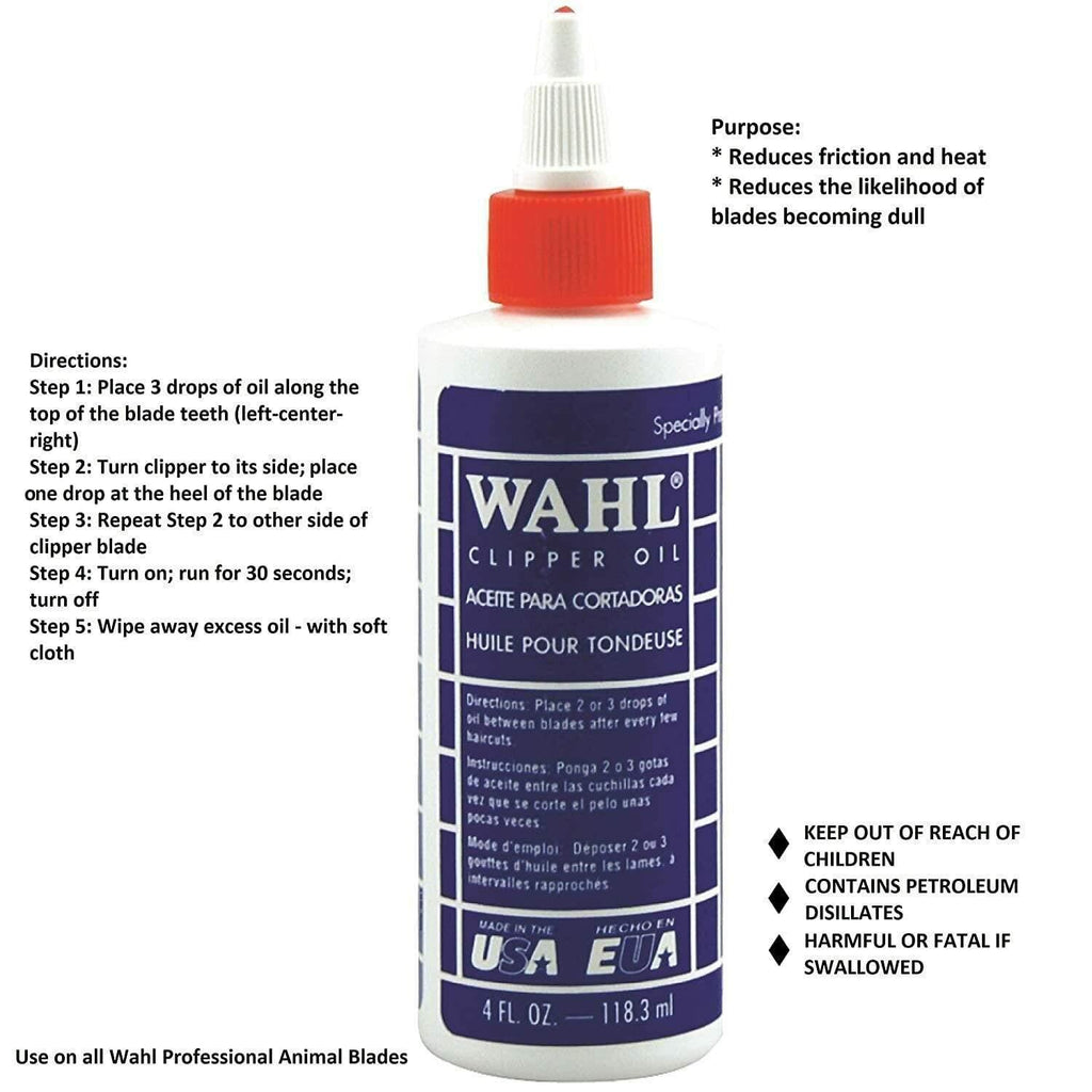 Wahl, Wahl Professional Clipper Blade Oil 4oz | 118.3mL, Mk Beauty Club, Clipper Oil
