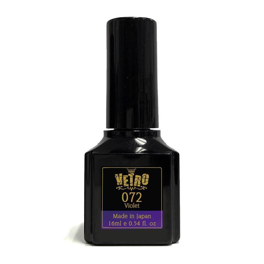 Black gel nail polish bottle Vetro # B072