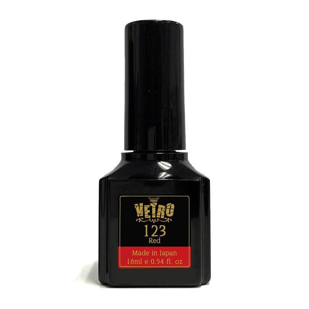 Black gel nail polish bottle Vetro # B123