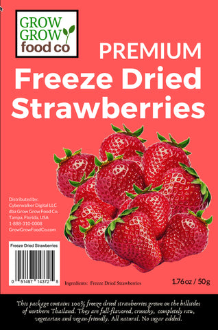 Freeze Dried Strawberries - 50g pack