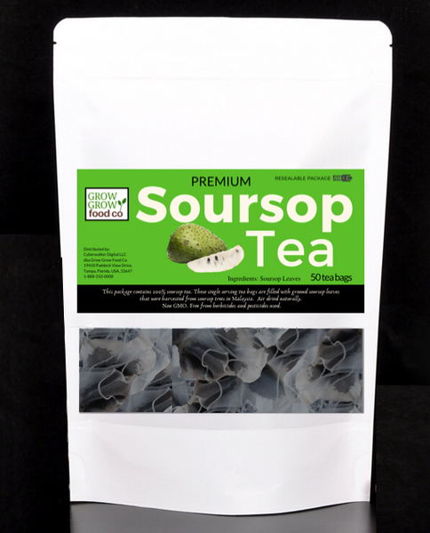 Soursop Mega Combo Pack - soursop tea bags and whole leaf soursop and freeze dried soursop fruit