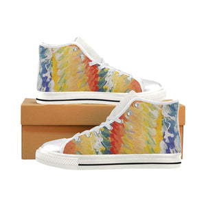 Water Color Women's Classic High Top Canvas Shoes (Model 017)