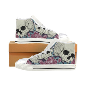16-130R4032302 Women's Classic High Top Canvas Shoes (Model 017) Women's High Top Canvas Shoes (017)