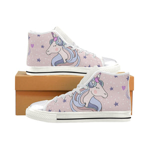 Unicorns Women's Classic High Top Canvas Shoes (Model 017)
