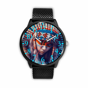 Beautiful Native American Girl Watch Watch