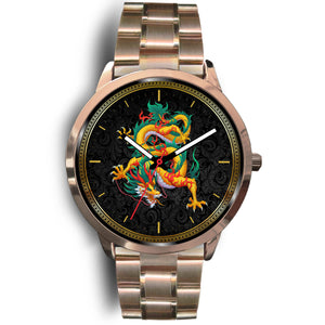 Chinese Dragon Rose Gold Watch Rose Gold Watch