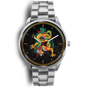 Chinese Dragon Silver Watch Silver Watch