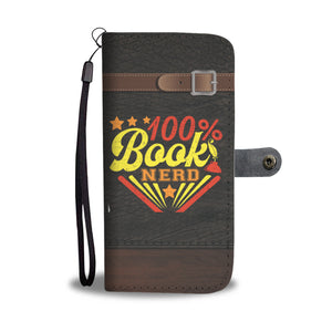 100% Book Nerd Wallet Case